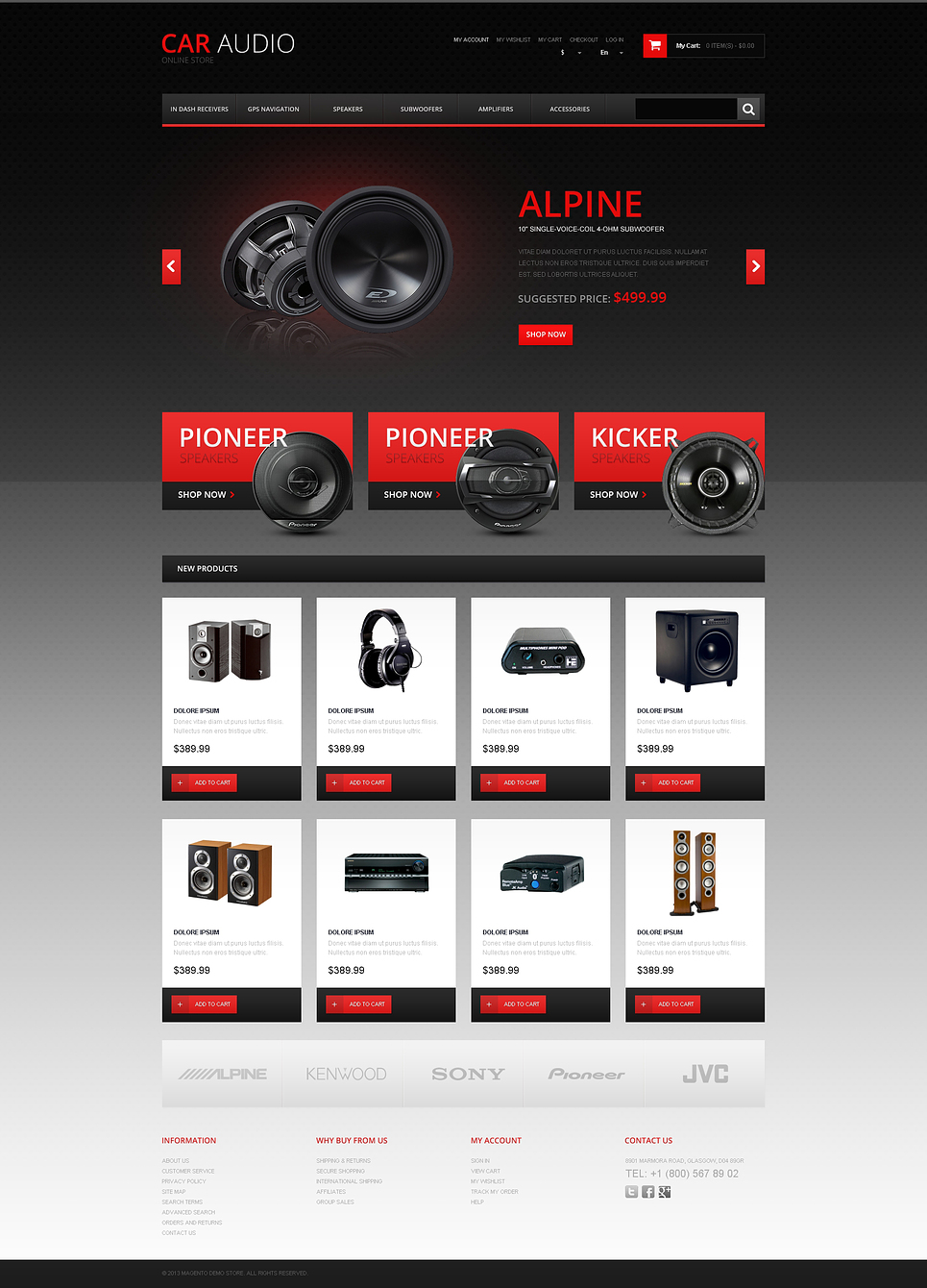 The Best Sound for Your Car Magento Theme New Screenshots BIG