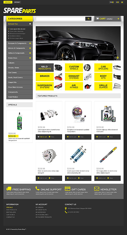 Spares For Speed - Bootstrap Responsive Prestashop Cars Bike Store Theme