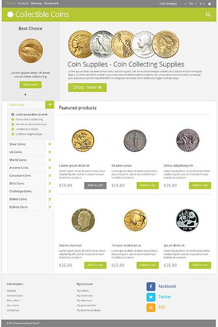 Collectible coins - Best Hobbies & Crafts PrestaShop Theme