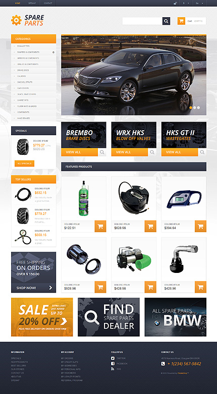 Spares That Serve For Ages - Bootstrap Responsive Prestashop Cars Bike Store Theme