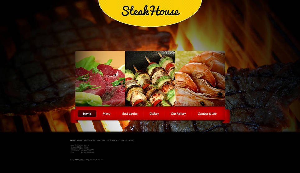 Cooking Website Template with Photography Background - image