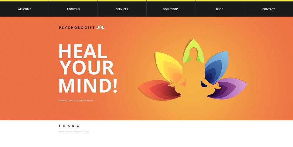 Family Psychologist Website Template with Multi-colored Pages - image
