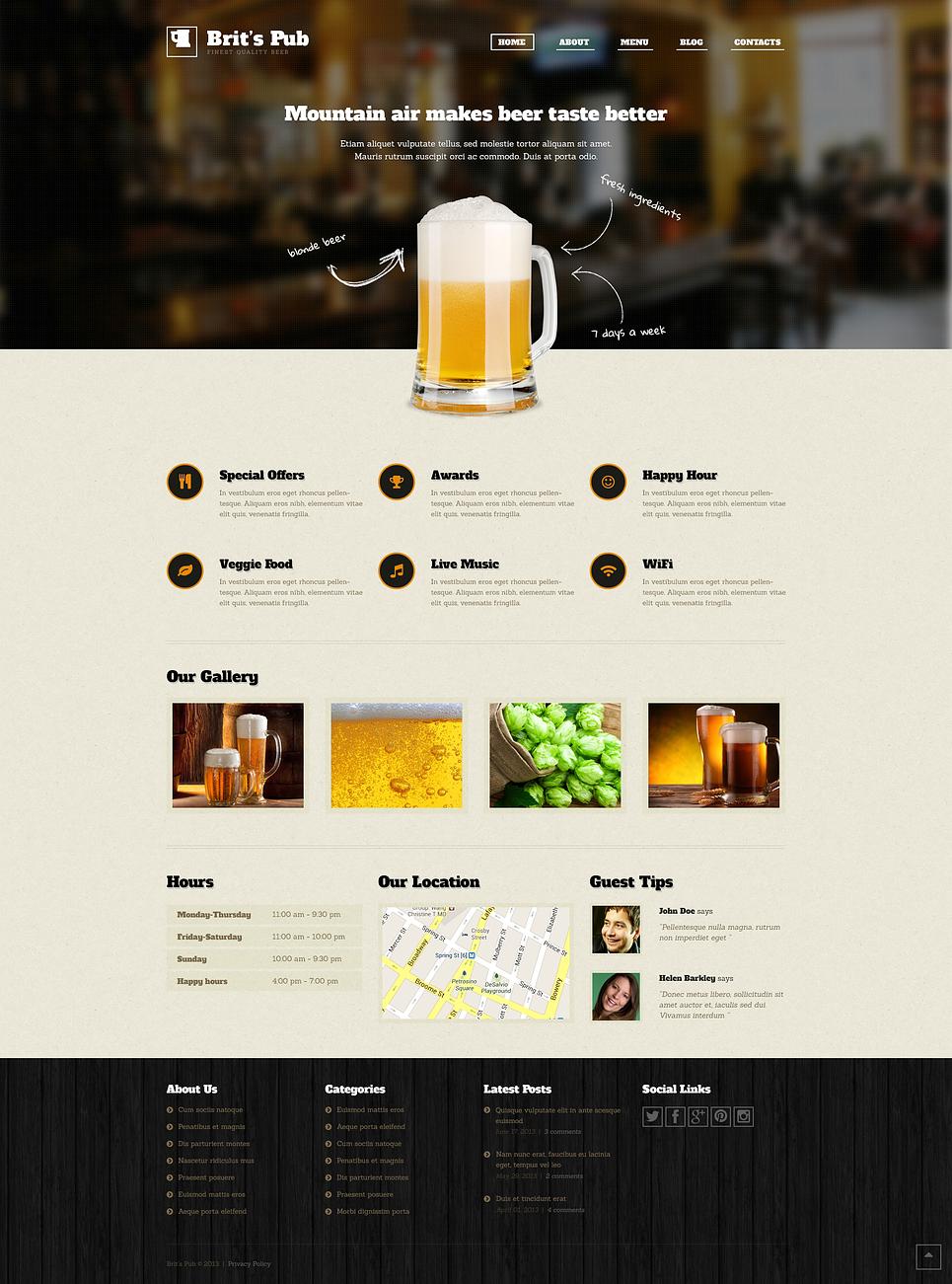 Brits pub - Entertaining Responsive WordPress Brewery Theme