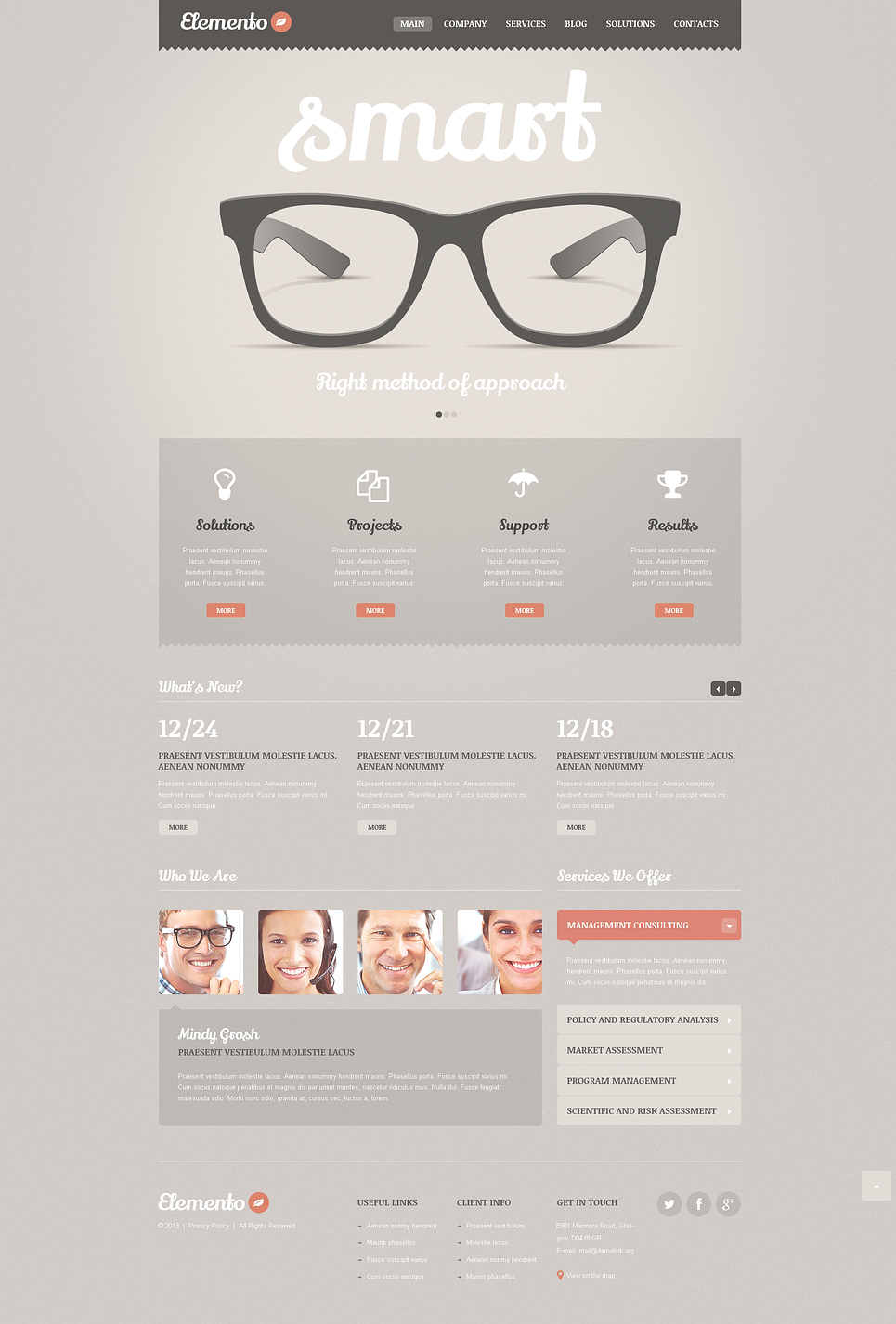 Consulting Bureau WordPress Theme New Screenshots BIG