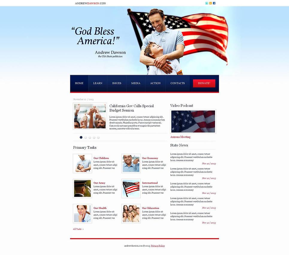 HTML шаблон для политического деятеля - image