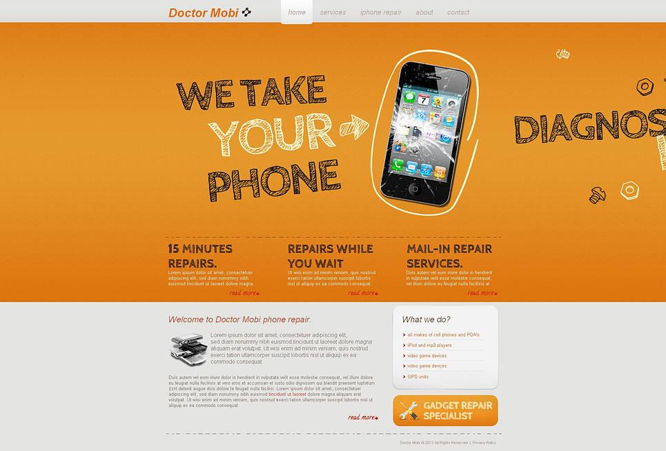 Creative Phone Repair Center Website Template - image