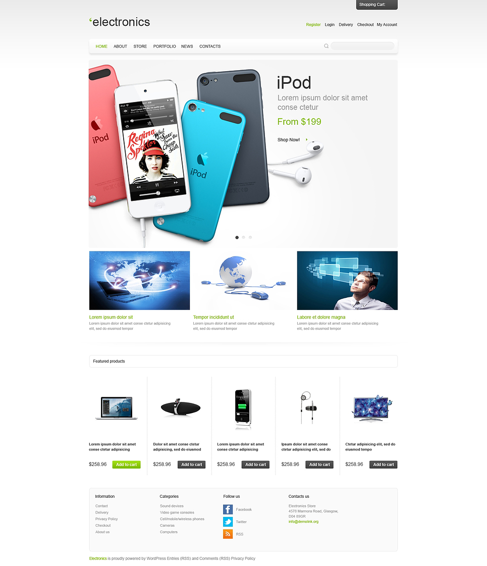 Electronics - Best Electronic Devices Jigoshop Theme