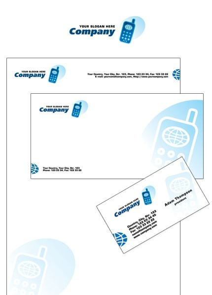 Mobile Company Corporate Identity Template Vector Corporate Identity preview