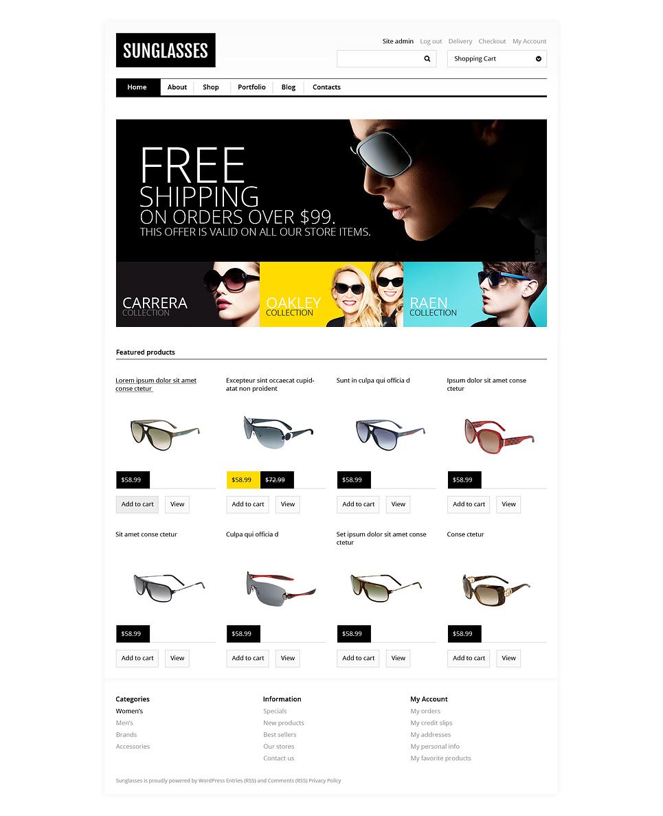 Sunglasses - Fashionable Sunglasses Jigoshop Theme