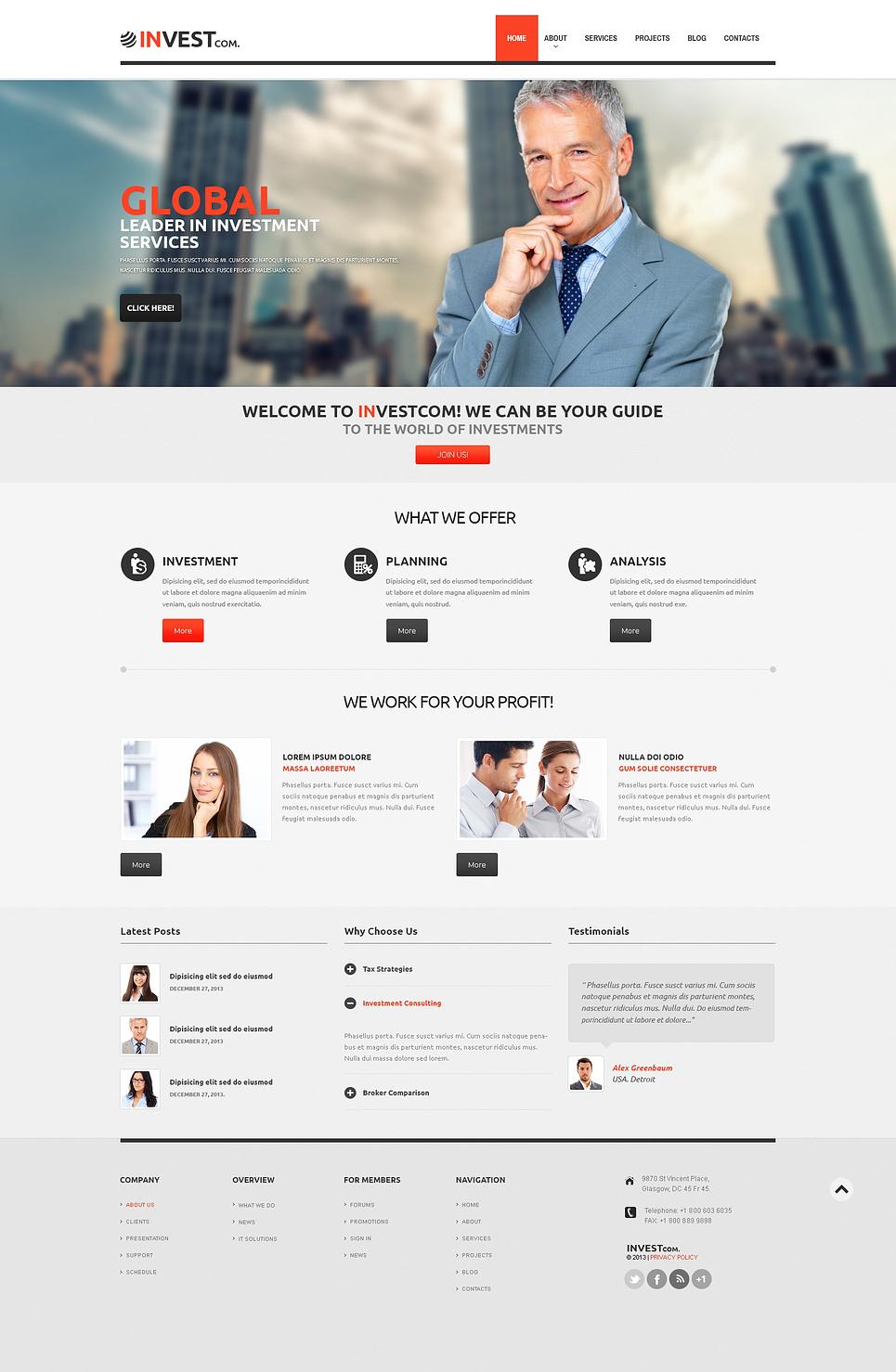 Investment Company Responsive WordPress Theme New Screenshots BIG