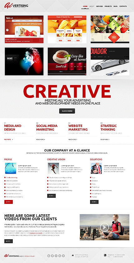 View live Demo for Advertising Agency - Corporate Responsive WordPress Theme