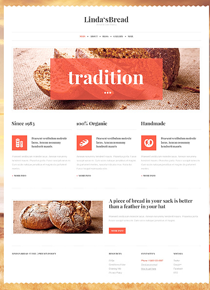 View live Demo for Bakery - A WordPress Fully Responsive Theme