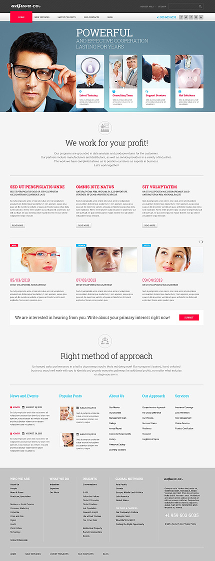 View live Demo for Metallic Marketing Agency - Corporate Responsive WordPress Theme