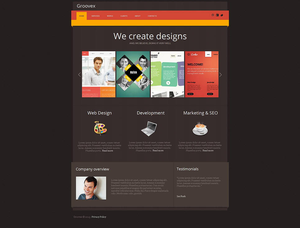 Creative Website Template with Carousel Slider - image