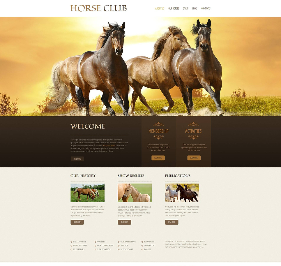 Horse Web Template with a Sliding Gallery - image