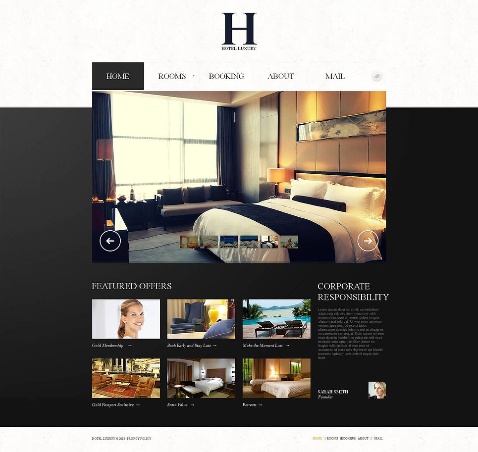 Hotel Website Template with Large Sliding Gallery - image