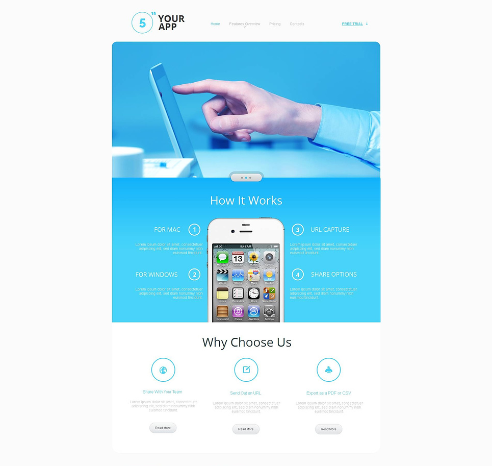 Clean Apps Website Template - image