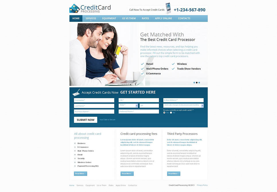 Banking Website Template with CMS - image