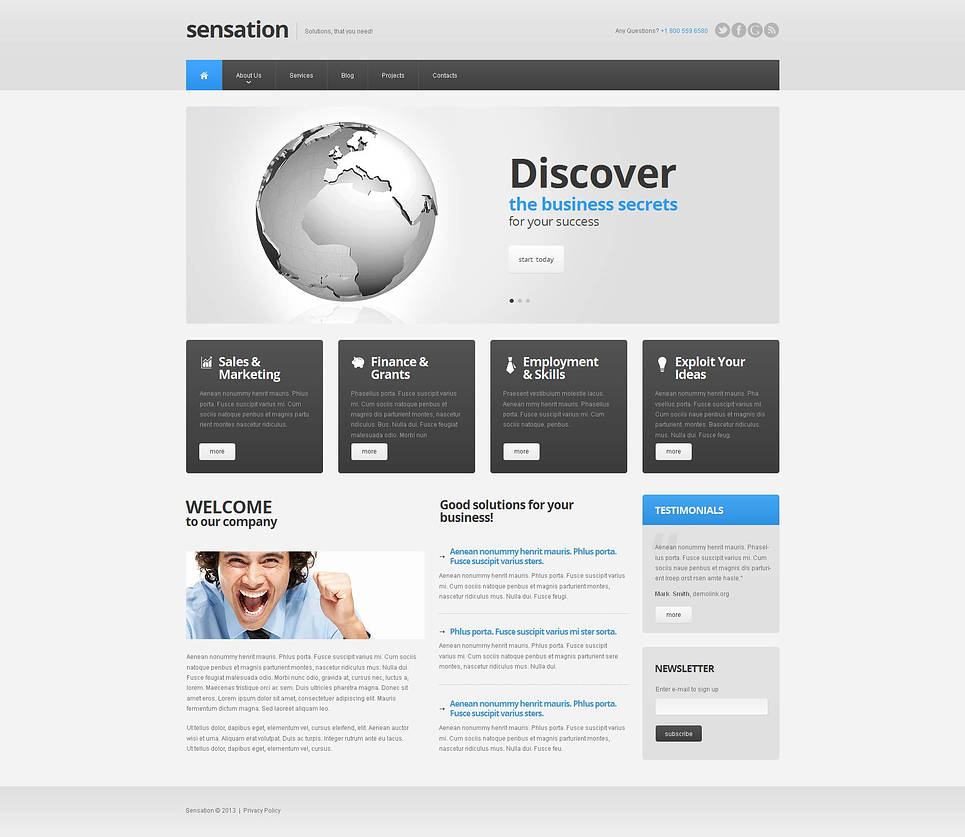 Light-to-Use Website Template for Business - image
