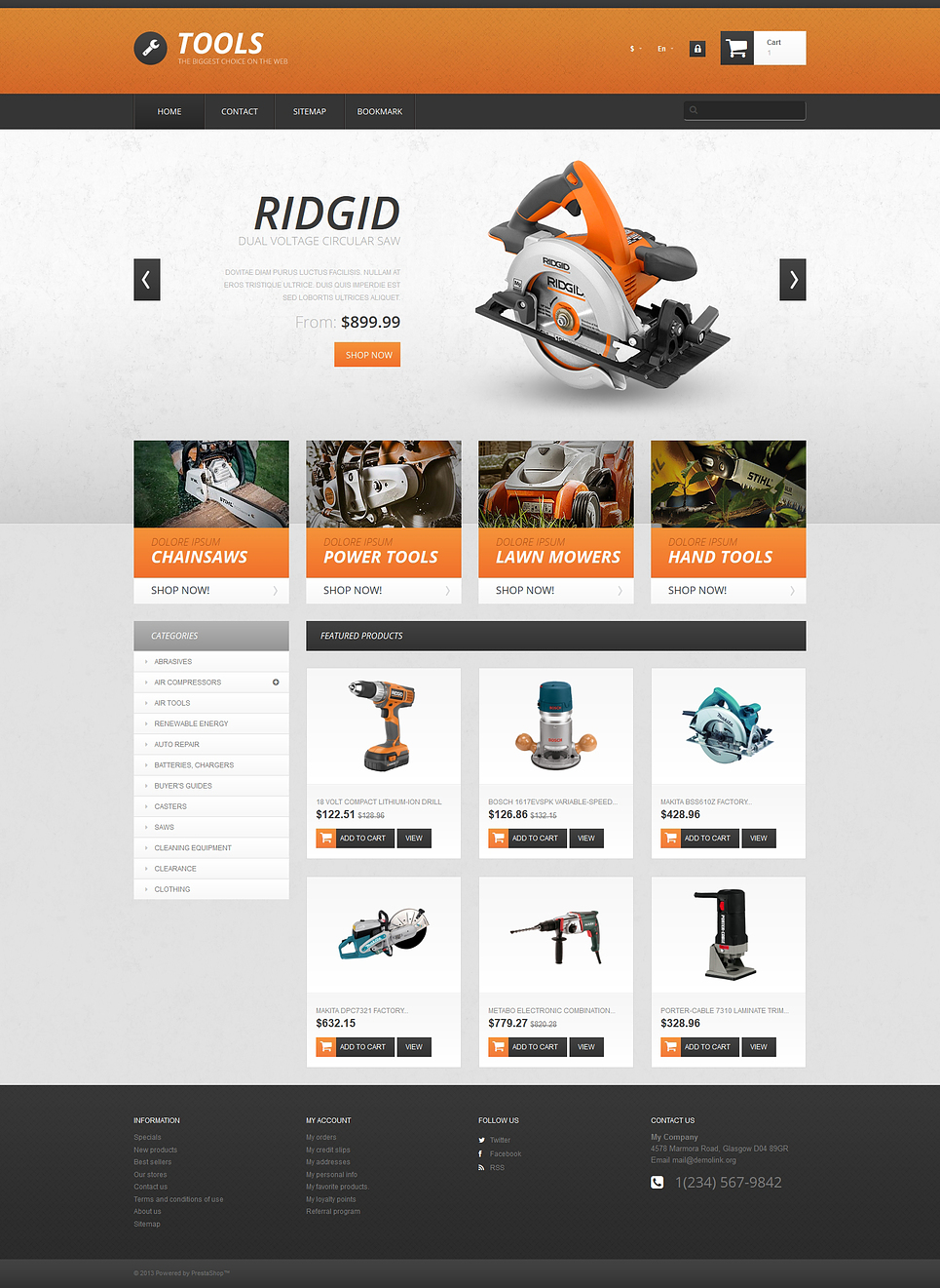 Wonderful Tools PrestaShop Theme