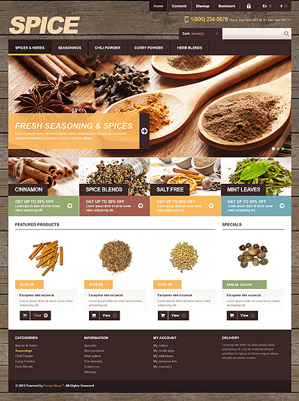 Spices - Ultimate Spices For Cooking PrestaShop Theme