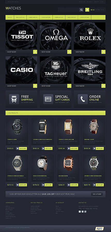 Watches - Marvellous Watches Store Magento Theme