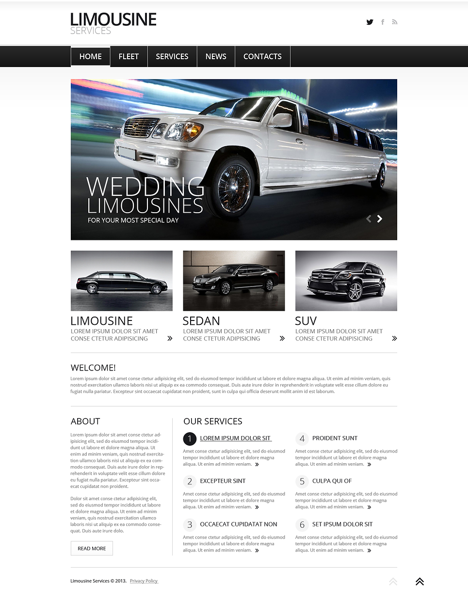Limousine Services to Fulfill Expectations Joomla Template New Screenshots BIG