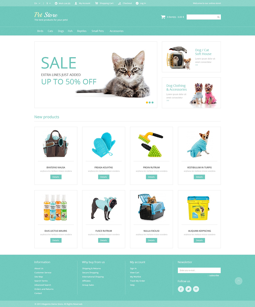 Ultimate Pet Supplies Magento Theme