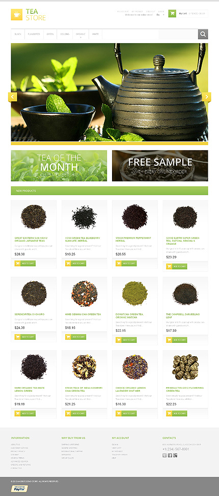 Tea store - Healthy Tea Shop Magento Theme