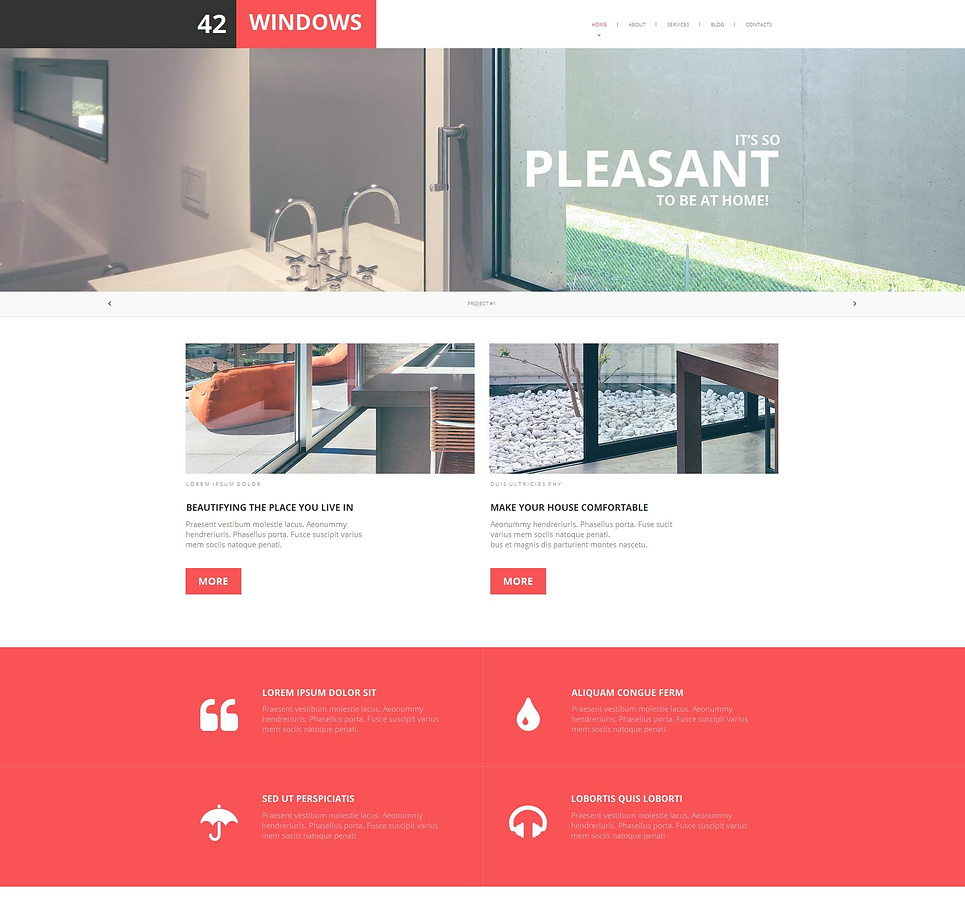 Home Interior Web Template with Huge Image Slider - image