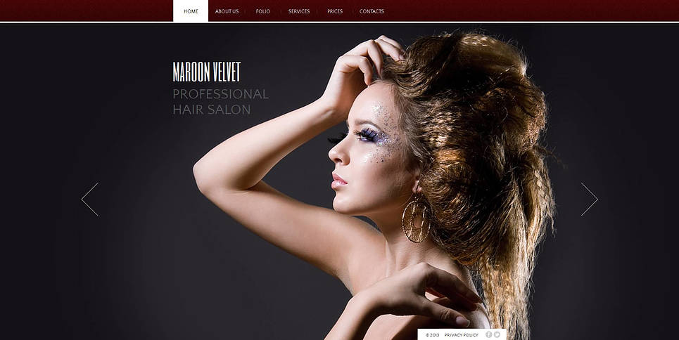 HTML Vorlage für einen Friseursalon - image