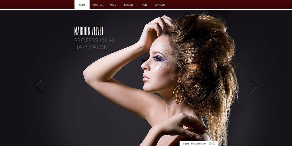Html шаблон для парикмахерской - image