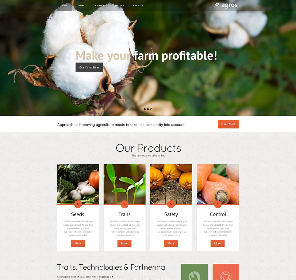Agriculture Web Template with Header Sliding Gallery - image