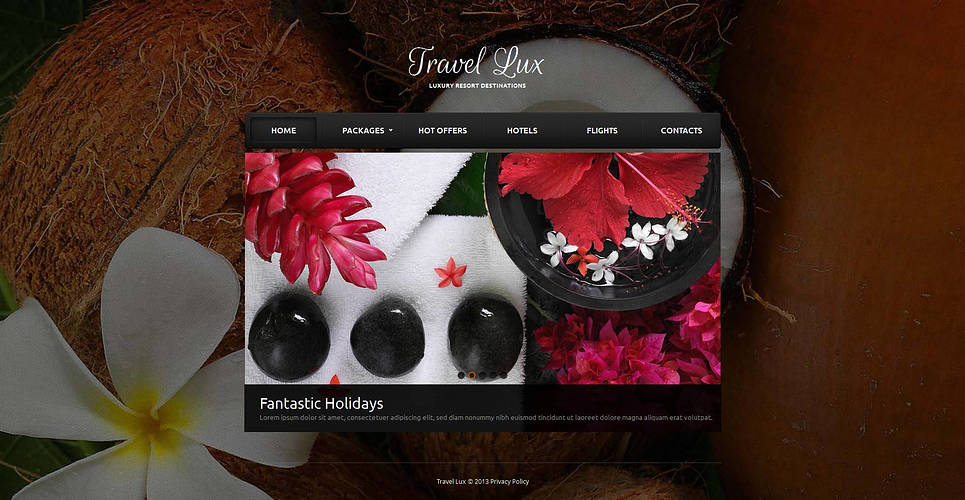 Resort Website Template with Background Gallery - image