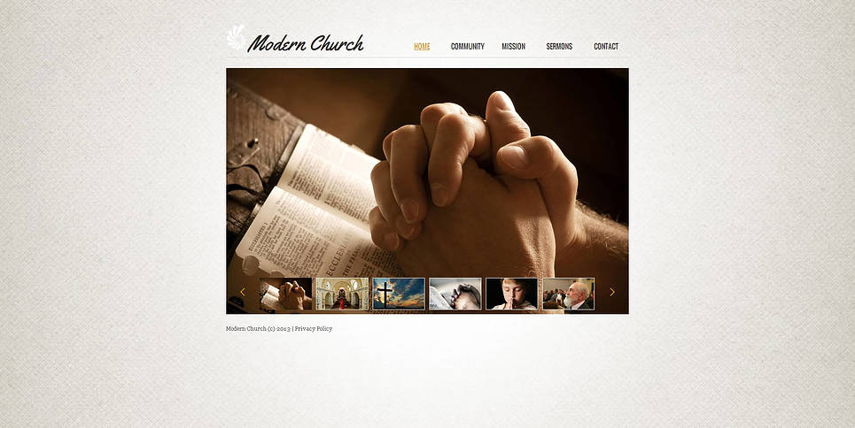 Simple Church Web Template with Home Page Photo Gallery - image