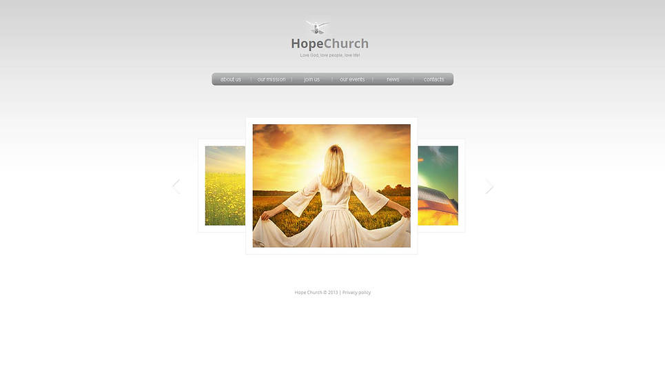 Clean and Minimalist Website Template for Churches - image