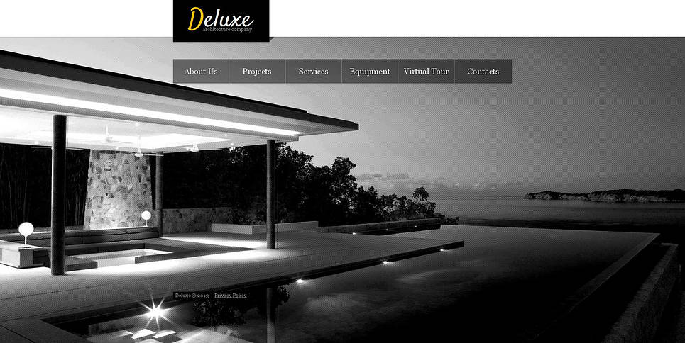 Monochrome Architecture Website Template with Bright Pictures - image