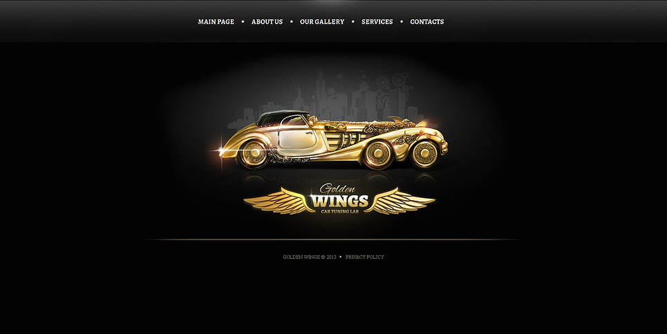 Black and Gold Car Tuning Website Template - image