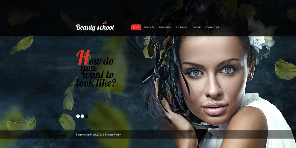 Beauty School Website Template with Full-Page Background Slider - image