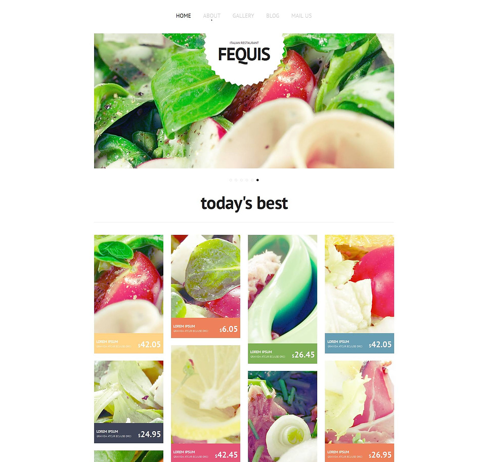 Italian Restaurant Website Template with Grid Gallery - image