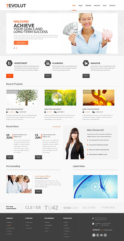 View live Demo for Financial Advisory - Corporate Responsive WordPress Theme