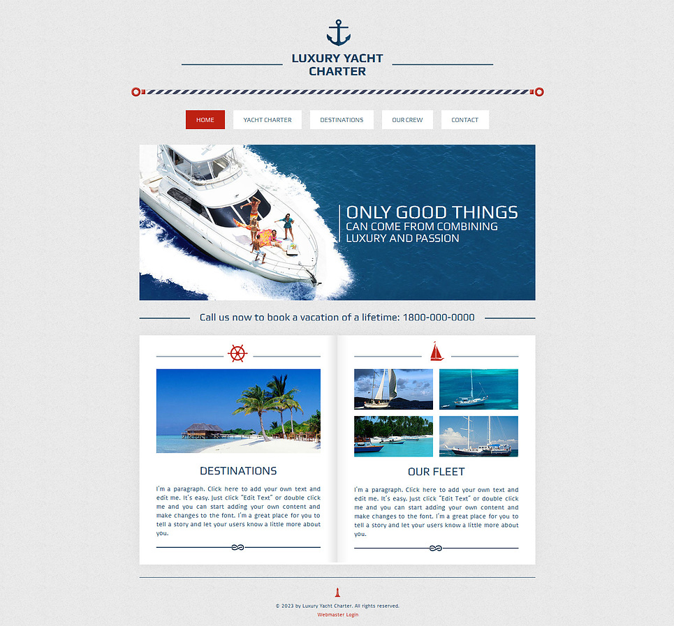 Yachting wix website template 47285 for Can i download wix templates