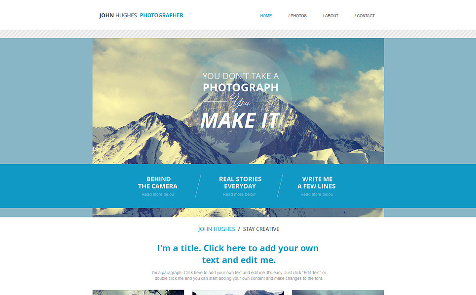 Photographer portfolio wix website template 47288 for Can i download wix templates