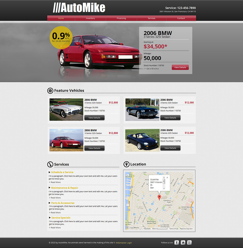 Car rental wix website template 47293 for Can i download wix templates