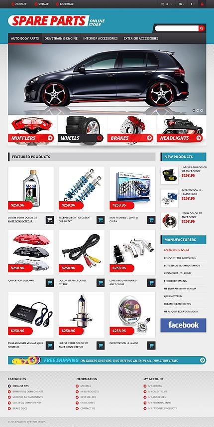 Auto Parts - Bootstrap Based Responsive Prestashop Cars Bike Store Theme