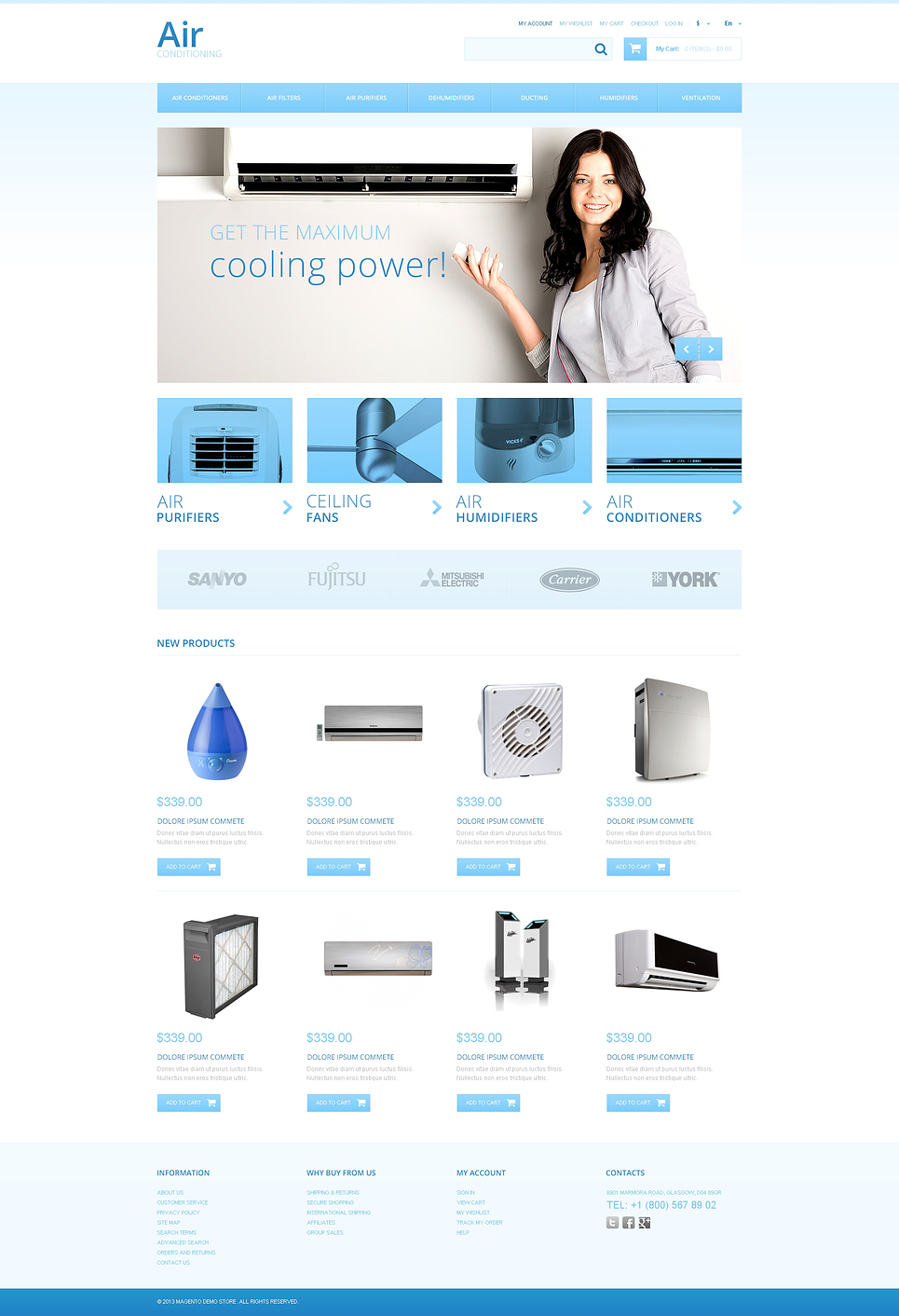 Air Conditioners Magento Theme New Screenshots BIG
