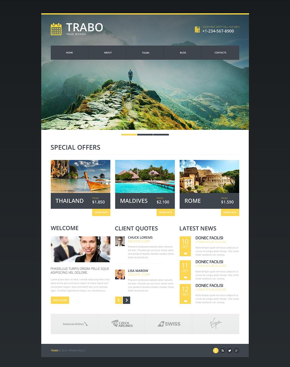 travel agency responsive website template 47338