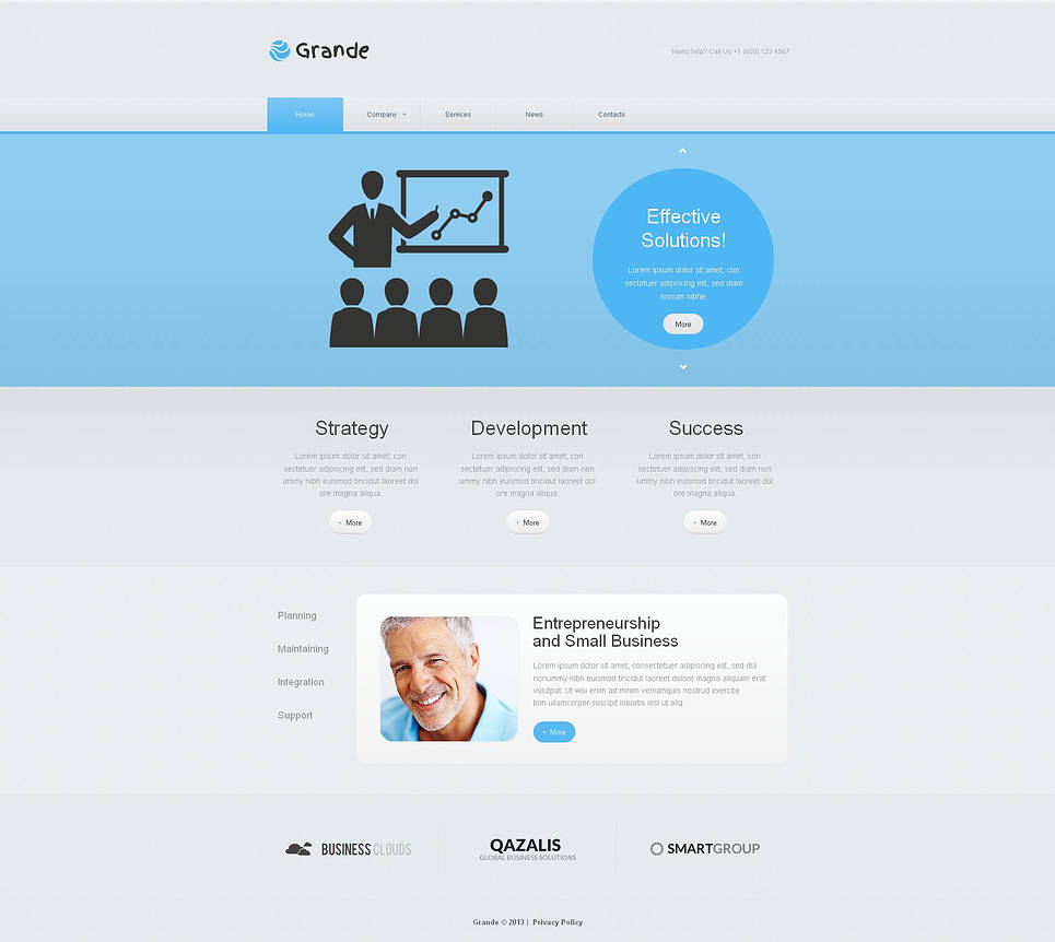 Clean Website Template with jQuery Slider for Business - image