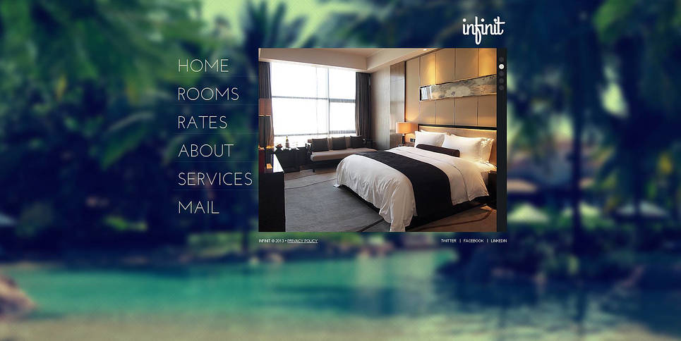 Hotel Web Template with Photo Background and jQuery Gallery - image