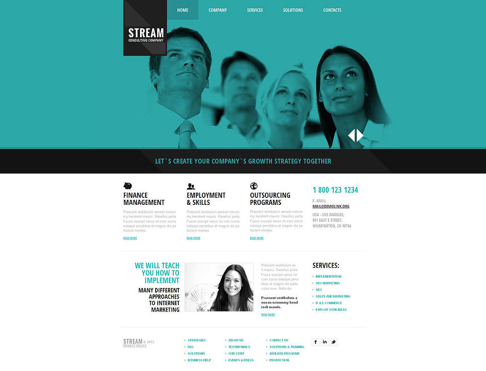 Corporate Website Template with Large Content Slider - image